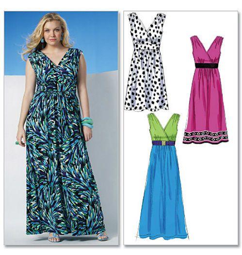 Maxi dress pattern plus size