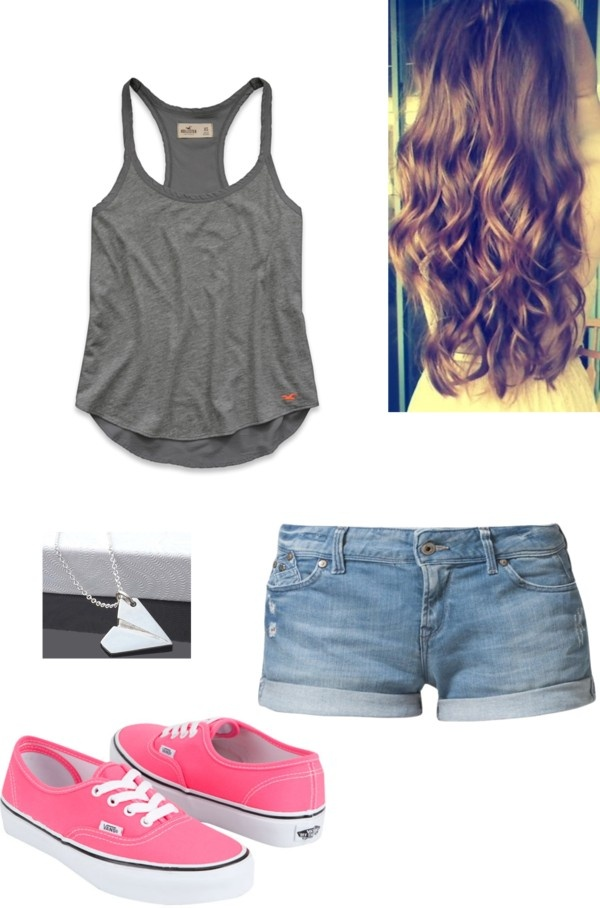 """""""SUMMER OUTFIT! :)"""" by ari-directioner1 ❤ liked on Polyvore"""