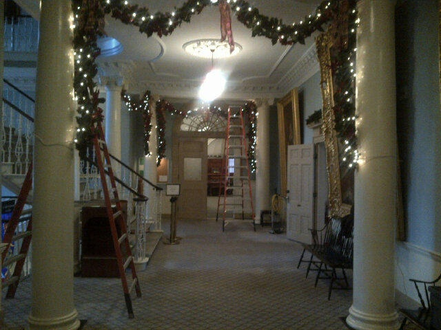 Christmas decorations at Province House. Courtesy of Jean Laroche @larochecbc
