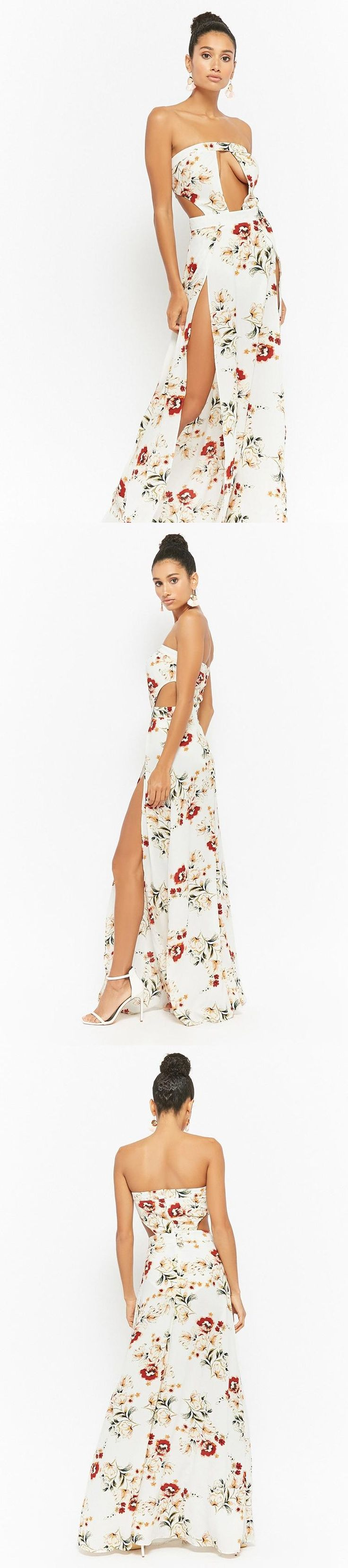 Floral Tube Maxi Dress // 48.00 USD // Forever 21