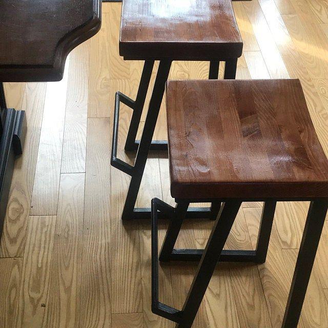 Height 13 40in 33 99cm Wood Metal Stool Etsy In 2020 Wood Metal Stool Metal Stool Metal Wood Bar Stool