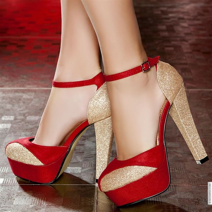 Great red and golden shoes 2016. Find this Pin and more on Sexy Heels ...