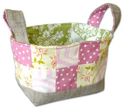 Quilted fabric basket