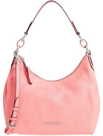 Michael Kors Pebbled Leather Medium Convertible Isabella Shoulder Bag