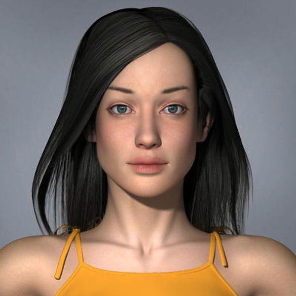 masha various formats woman 3d model