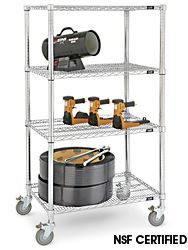 Mobile Shelving in Stock - ULINE 36Wx18Dx69H Also 48 or 60 Wide, and 18 or 24 deep