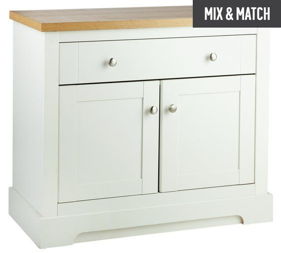 Buy Heart of House Westbury 2 Door 1 Drawer Sideboard - White at Argos.co.uk, visit Argos.co.uk to shop online for Sideboards and dressers, Living room furniture, Home and garden
