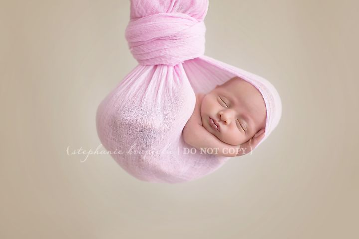 newborn inspiration. Hanging shot. Please be safe when doing these. Composites are the way to go.  https://www.facebook.com/Stephaniekrupickaphotography