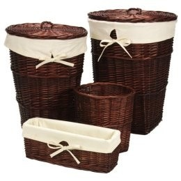wicker i use the tall hampers as garbage cand in my kitchen i reline the wicker