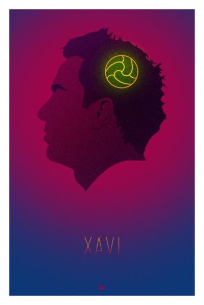 Xavi Print - Football Brain