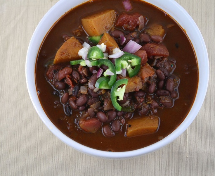 Black Bean Chili with Butternut Squash