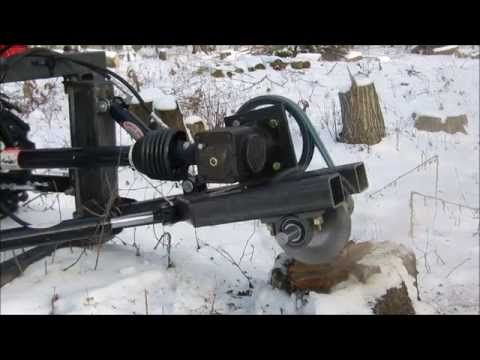 Sub-Compact Stump Grinder First Cut - YouTube