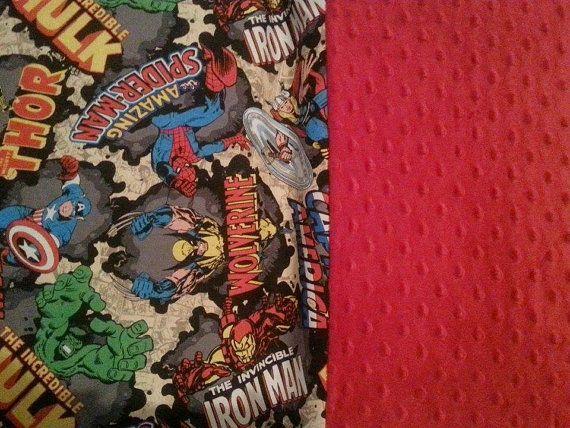 Marvel Avengers Kinder Mat/ Nap Mat cover back to by SewLuvingIt