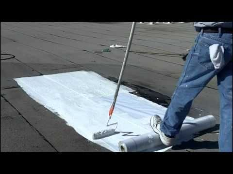 How To Install Elastomeric Roof Coating   Flat Roofs