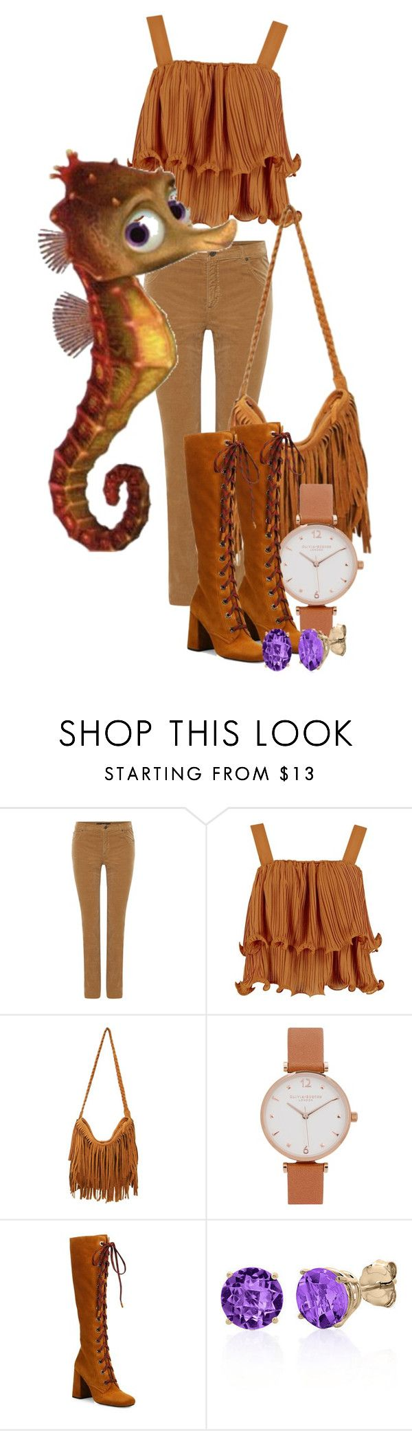 """Sheldon -Finding Nemo"" by awesome-antoinette ❤ liked on Polyvore featuring Oui, Olivia Burton, Prada and Belk & Co."