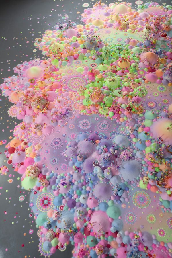 Pip & Pop amazing psychedelic candyland installations. #art #colour #installation