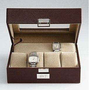 New idea for Stratton? Personalized Leather Watch Case for Men #gifts #husband #christmas