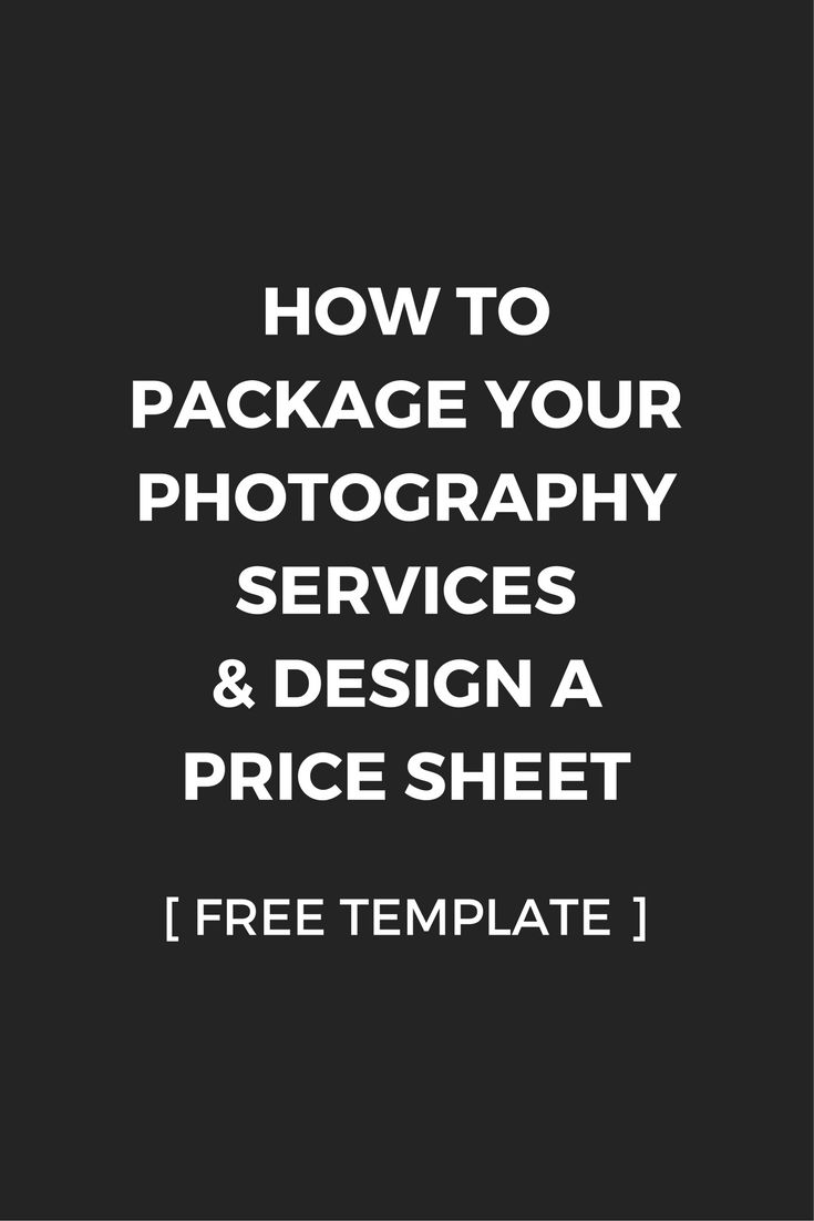 How to Package Your Services & Design a Price Sheet | Free Price Menu / Sheet Template Download