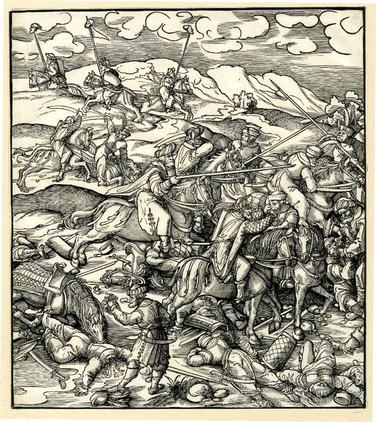 The Battle of Krbava in Croatia, by Leonhard Beck, c.1514-6s