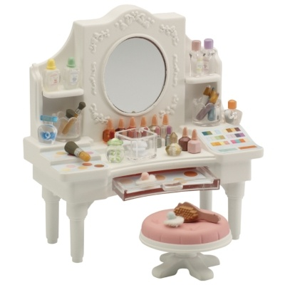 Sylvanian families girls dressing table sylvanian family for Sylvanian families beauty salon dressing table