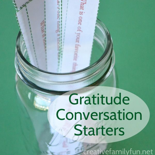 Printable gratitude conversation starters for Thanksgiving and Christmas to help get your kids talking about gratitude.