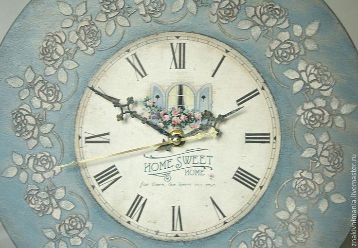 Часы настенные в стиле винтаж. Купить настенные часы. Интерьерные часы - 30см. Wall clock in vintage style. Buy Wall Clock