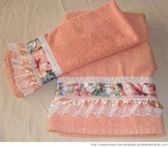 Manualidades en toallas decoradas - Imagui