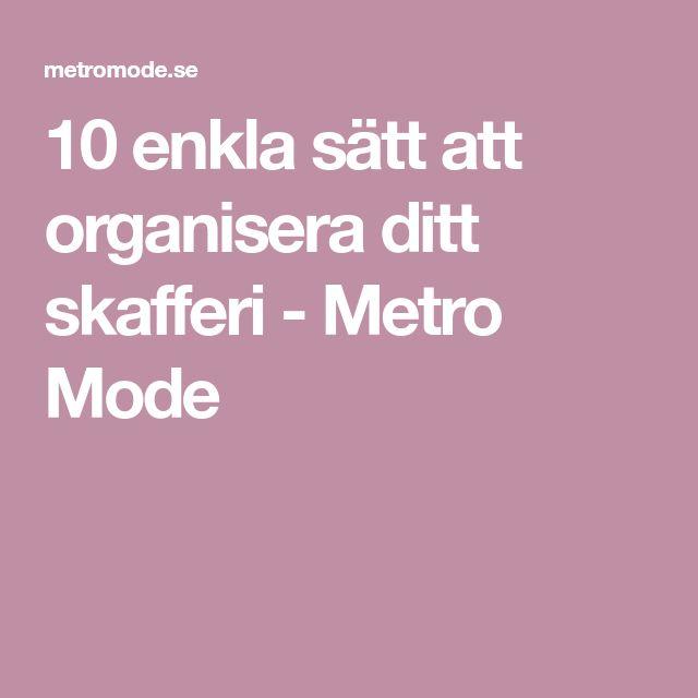 10 enkla sätt att organisera ditt skafferi - Metro Mode