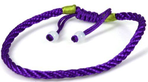 Luos Purple Handmade String Bracelet with 2 Jade Beads -St023 Luos Cultural Goods. $4.96. 2 jade beads at end of bracelet. handmade string bracelet. one size fits all ; adjustable string tied. it is said to bring good luck