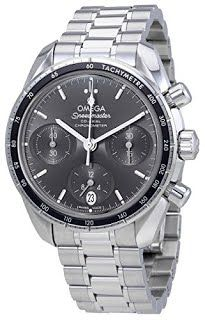 """""""Features & Benefits"""" Omega Speedmaster Co-Axial Grey Dial Automatic Mens Chronograph Watch 324.30.38.50.06.001"""