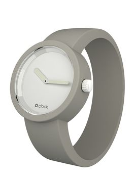 O clock Classic, #watch #wristwatch, plastic case and interchangeable light #gray #grey #silicone strap, @Fullspot