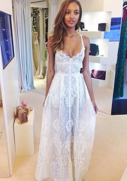 25  best ideas about White lace dresses on Pinterest | Lace dress ...