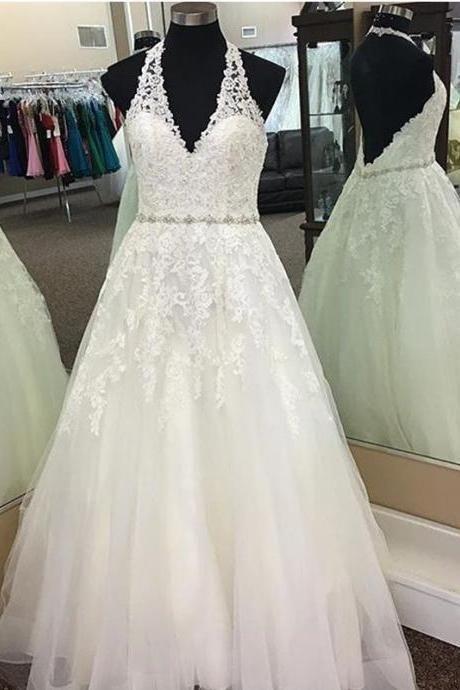 Halter Neck Princess Wedding Dresses