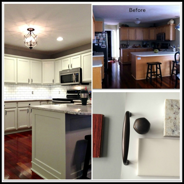 Kitchen Remodel Before And After Painted Cabinets 253 best before & after home images on pinterest | kitchen, home