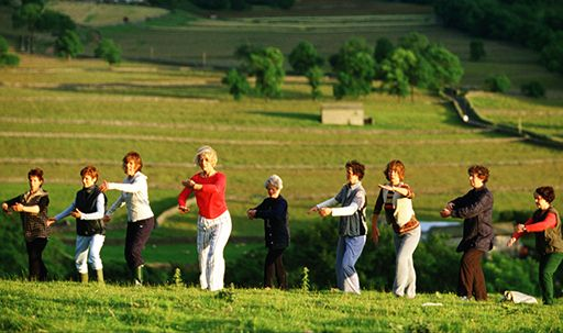 In the movie Calendar Girls, which stars Helen Mirren, we find Tai Chi being featured several times throughout the movie.