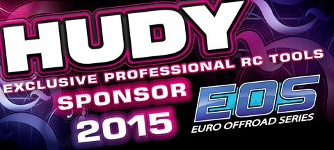HUDY is proud to announce to continue the partnership with the EOS organisers. HUDY will continue to be the associate sponsor at the European Offroad Series (EOS) also in the season 2014-2015. #RCcar