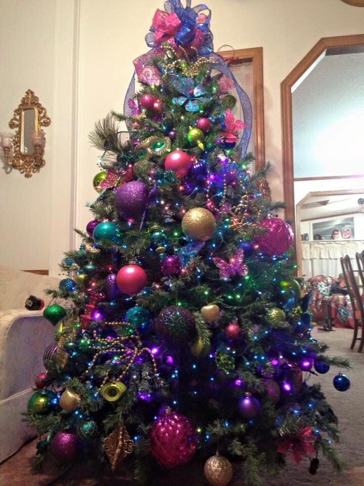 Christmas 2018 Rainbow Trend By John Lewis Will Be A Hit This Year Whimsical Christmas Trees Peacock Christmas Tree Rainbow Christmas Tree