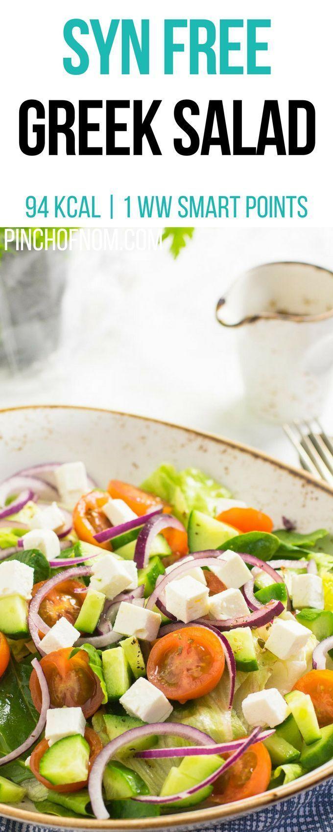 Syn Free Griechischer Salat   Prise Nom Slimming World Rezepte 94 kcal   Syn Fre… – Einfache Salat Rezepte