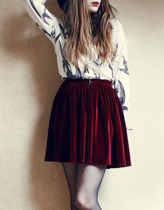 83 best images about Red velvet skirt on Pinterest | Leather ...