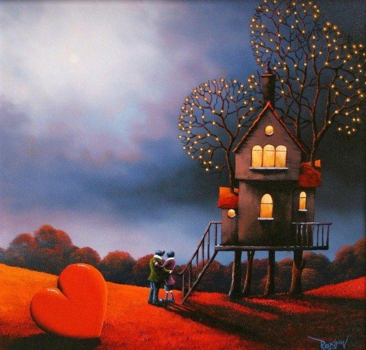 """""""Ho il cuore grande, ma con poche stanze e pochi ospiti; preferisco così. Chi ci entra non si sente soffocare, si sente comodo, si sente a casa."""" (Edvania Paes) (Illustrazione di David Renshaw)"""