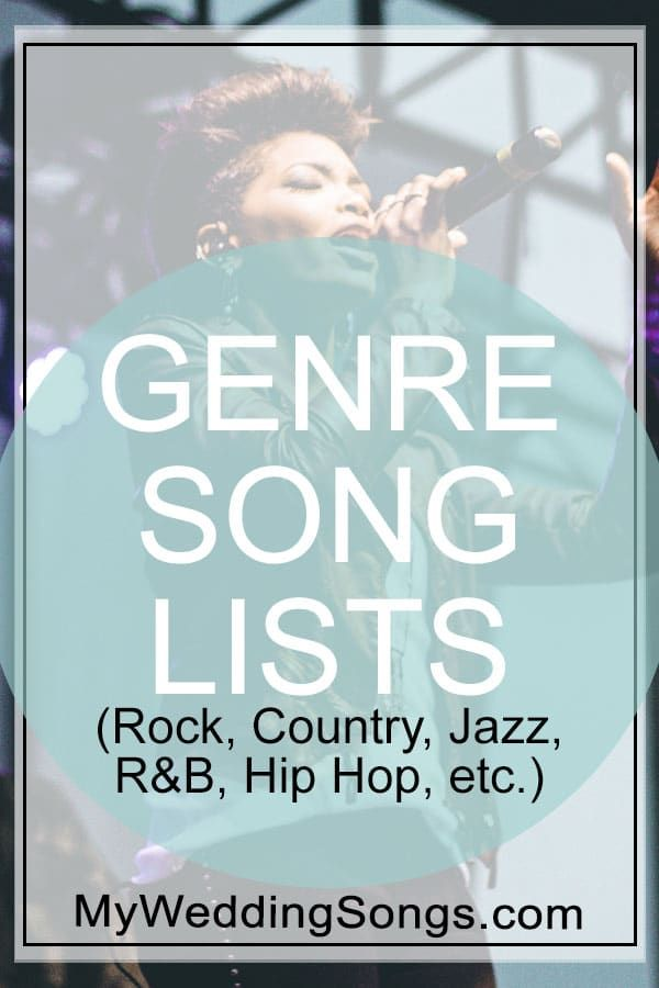 No matter your favorite music genre, find popular genre song lists like Rock, R&B, Christian, Country, Disco, Hip Hop, Dance, Polka and much more.