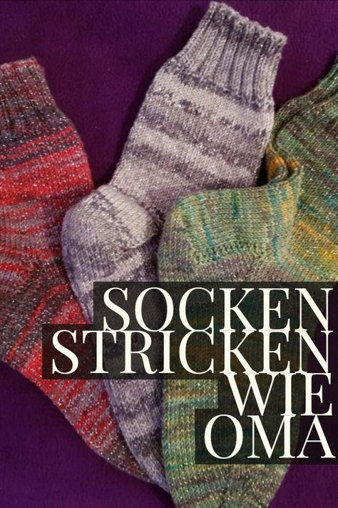 Socks knit like grandma with very simple instructions !!