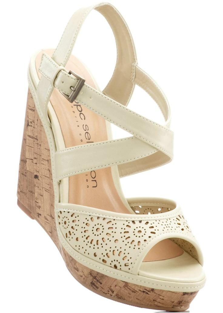 #white #wedge #sandals
