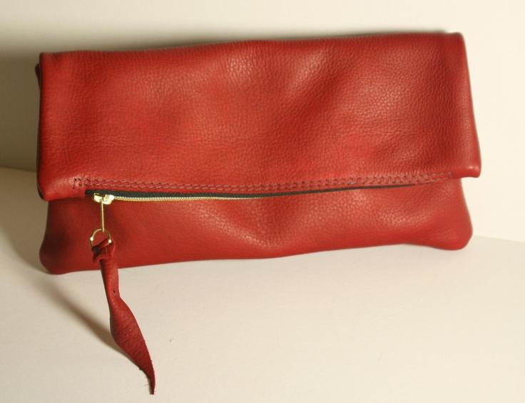 VIDA Leather Statement Clutch - Rust Belt Renaissance by VIDA 2aTY00Q