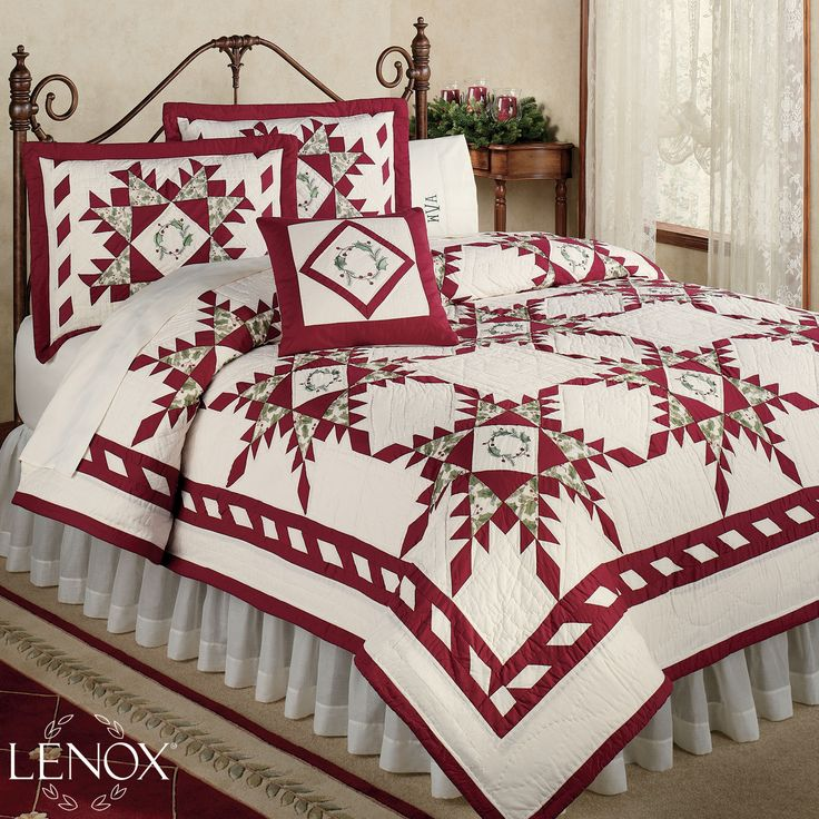 ... christmas season with the pure cotton lenox r holiday gathering quilt