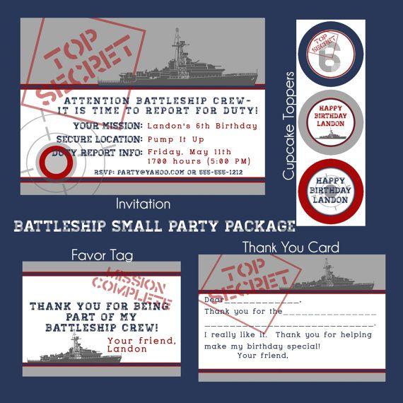 Battleship  Military  Navy  Birthday by allisonpowelldesigns, $25.00