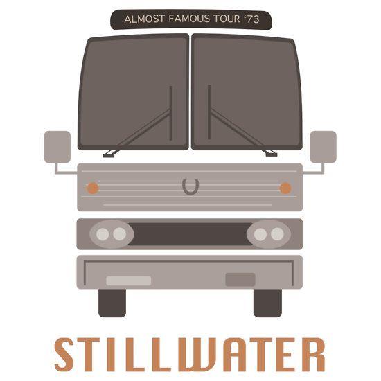 """""""Fast berühmtes Stillwater Tour Bus"""" T-Shirt von Alex Kittle"""