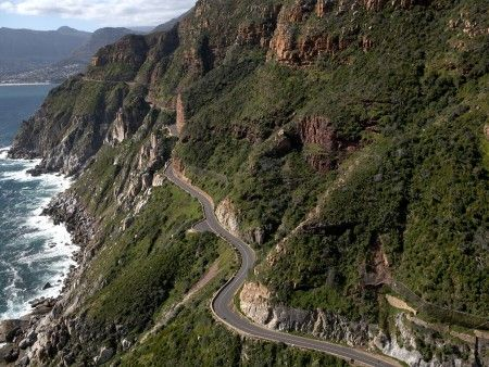 Chapman's Peak Drive, Western Cape. Great views, if you dare to take your eyes off the road.