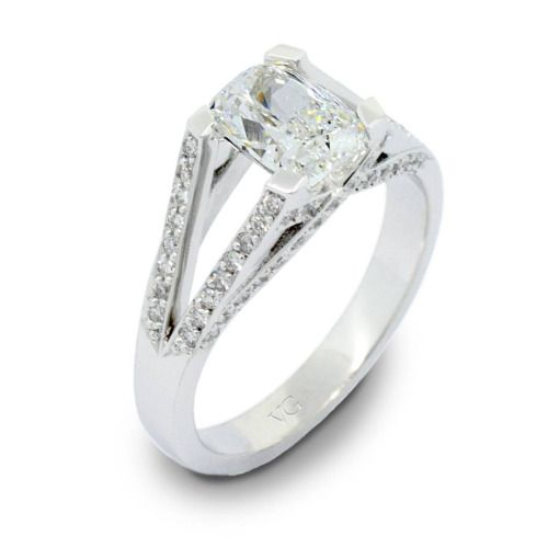 Transport yourself to a #charming terrace #garden overlooking the #city #lights every time you look at your #elegant cushion cut diamond held high atop a diamond band. #thevillagegoldsmith #engagementring #diamondring #diamonds #ring #engagement...