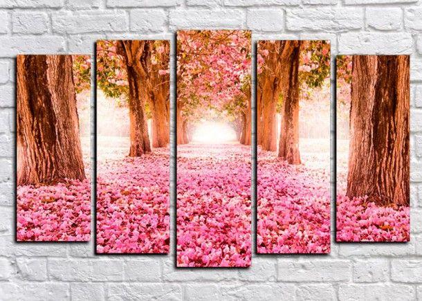 Модульная картина Розовое покрывало